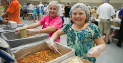 Serving at Feed My Starving Children